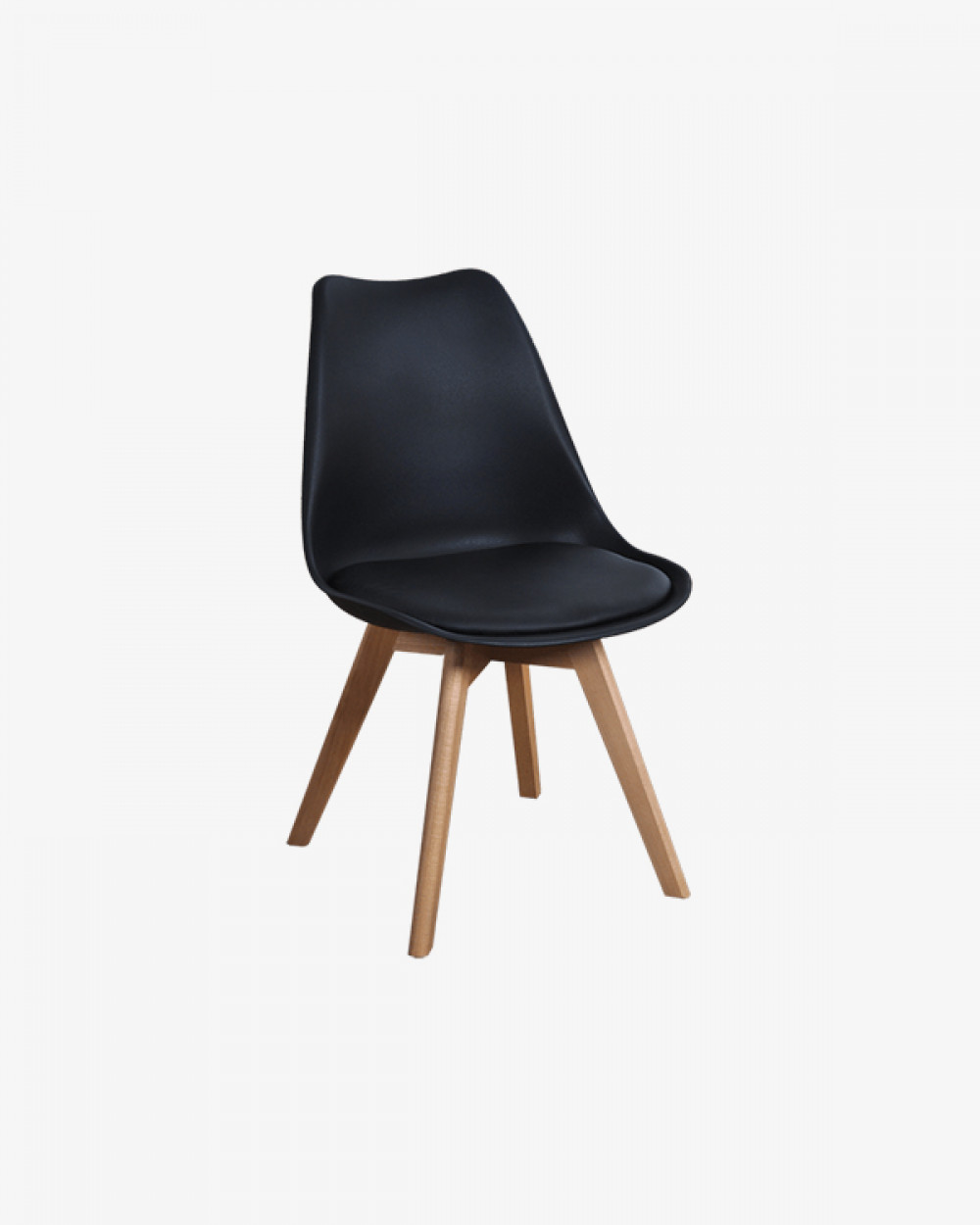 Eden Chair with Seat Pad | Black