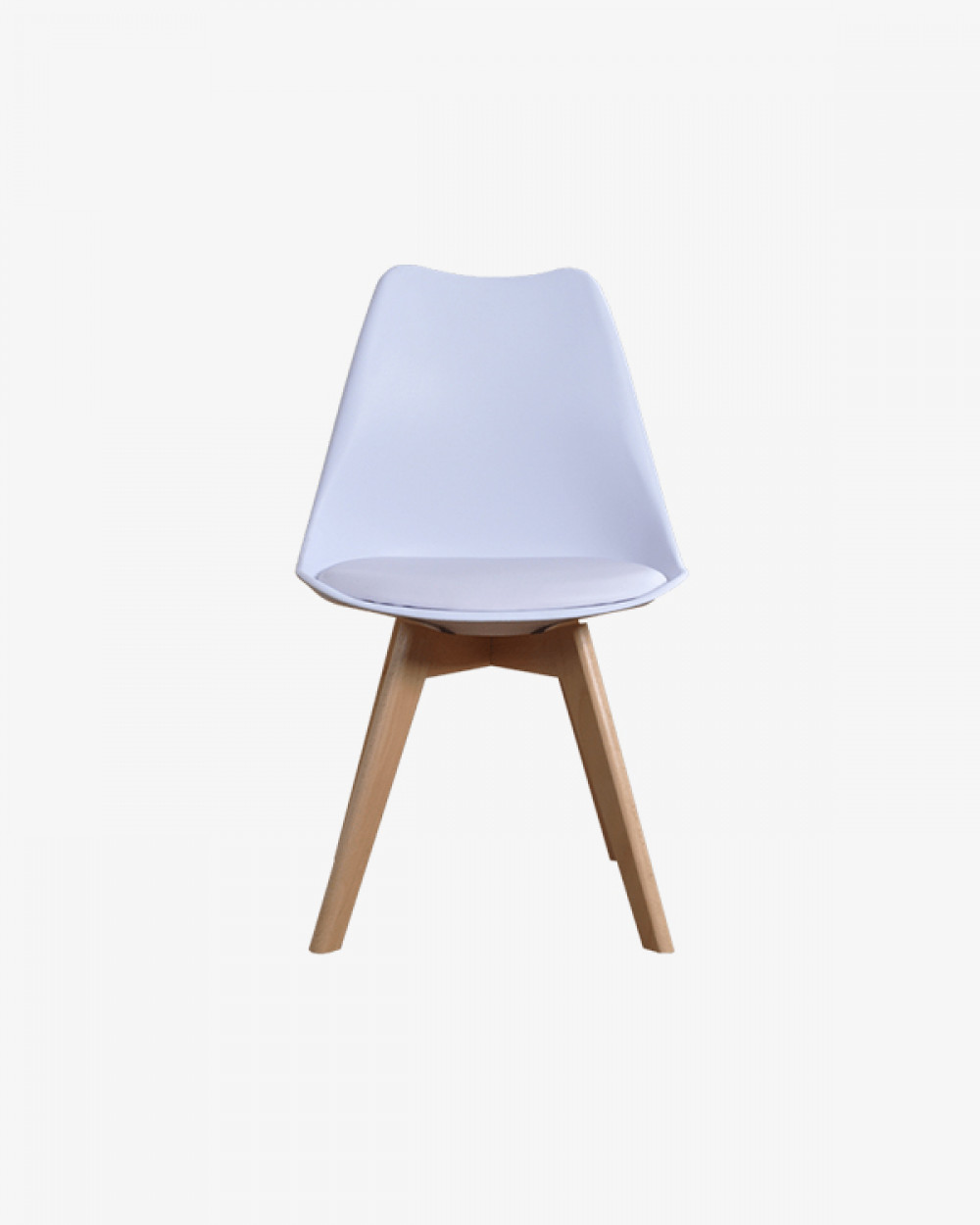 Eden Chair with Seat Pad | White