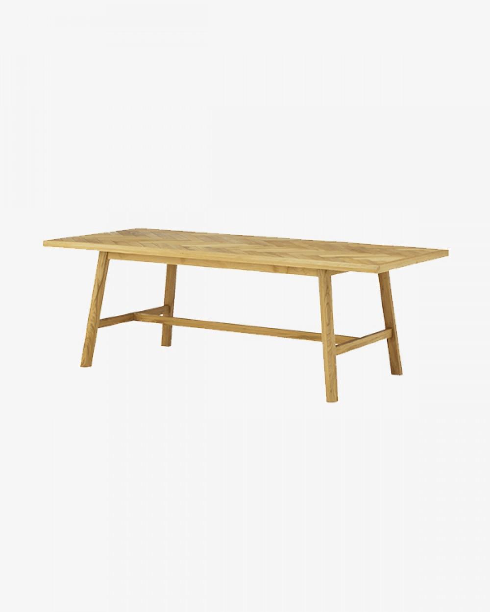 Hey Herringbone Dining Table   Natural Oak