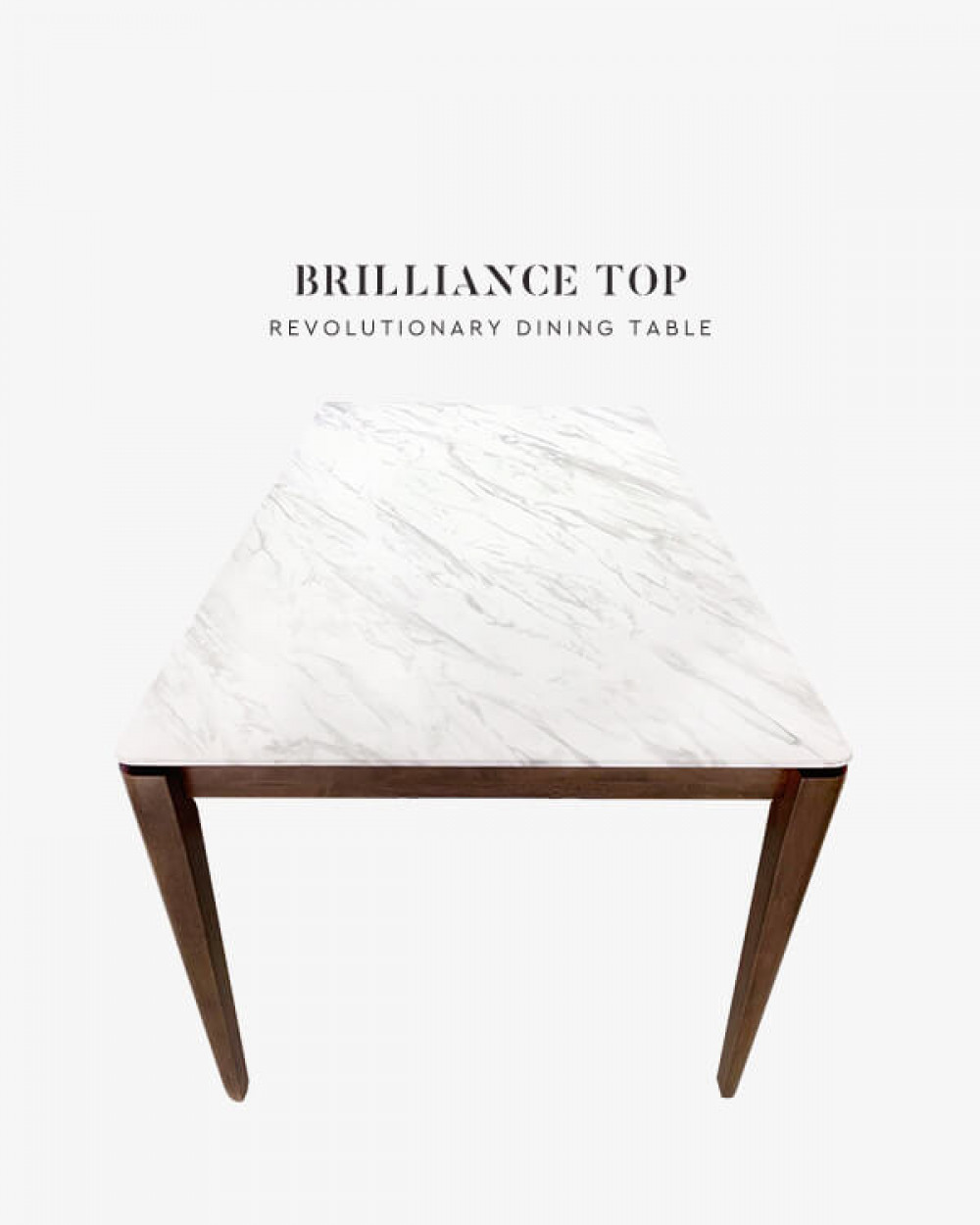 Brilliance Top | Kleberg Dining Table, Dark Emperador