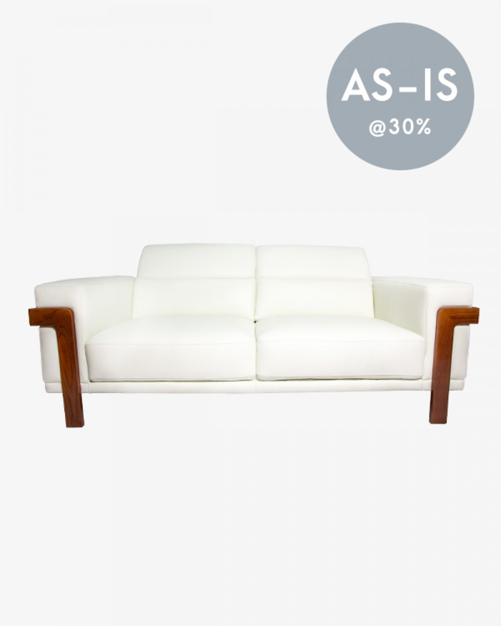 Luxuös Leather Sofa, 3 Seater (White)