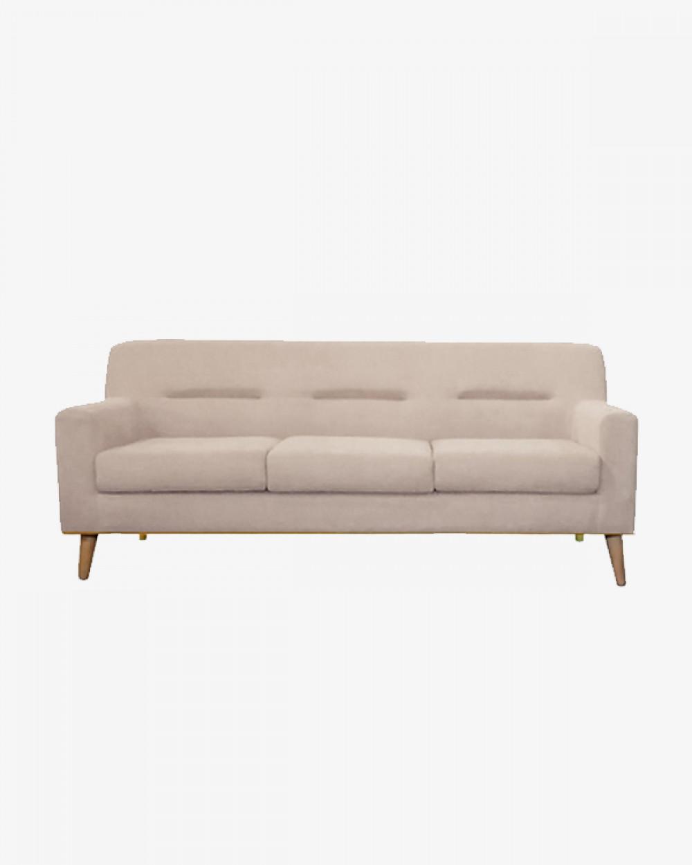 Sofie Sofa (Misty Beige) I 3 Seater