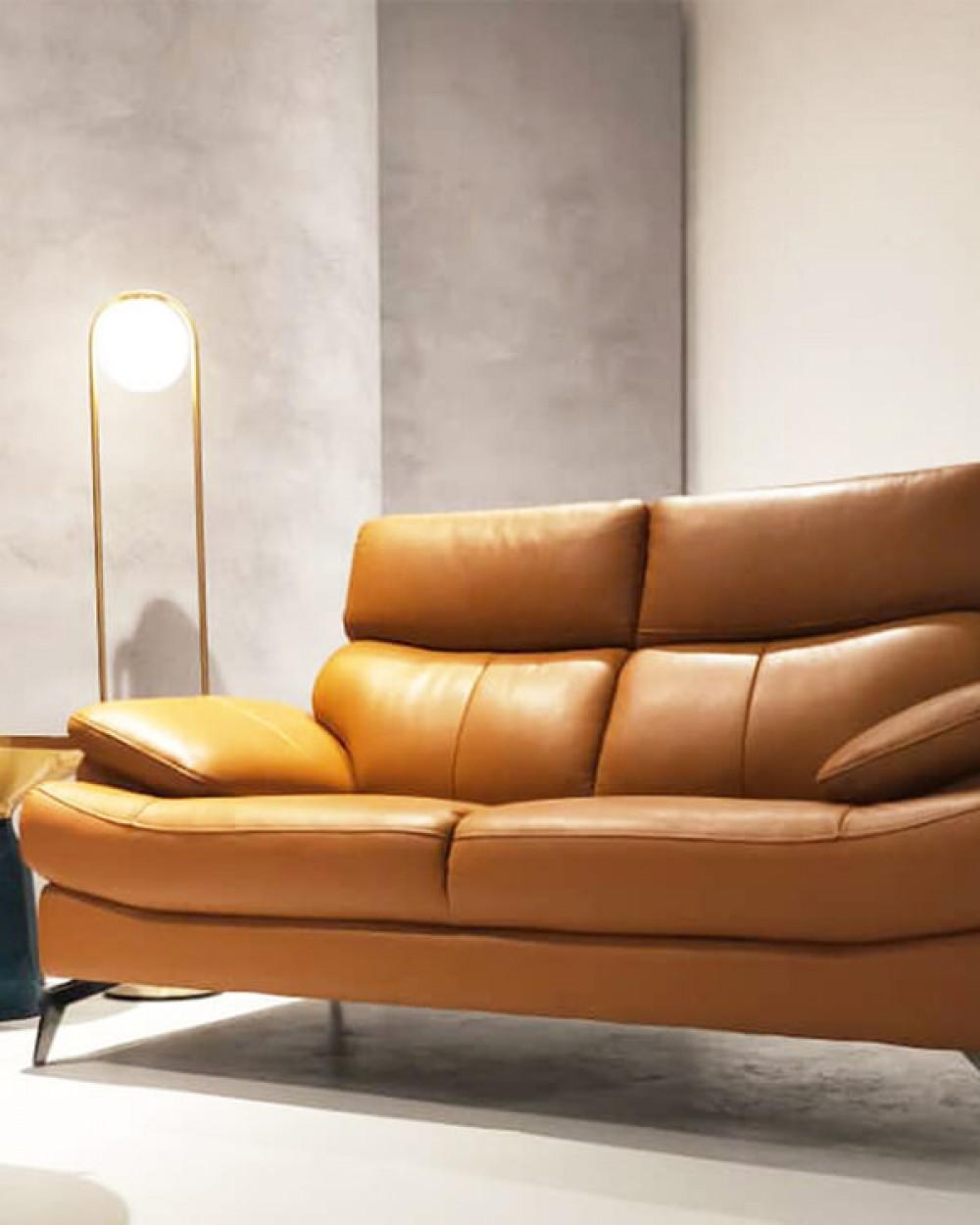 Whiskey Leather Sofa I 2 Seater